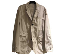 Second Hand Jacke.Blouson Polyester Weiß
