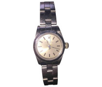 Second Hand Oyster Perpetual Lady Silber Uhren
