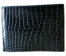 Second Hand wallet & case, Kleinlederware Exotenleder Schwarz