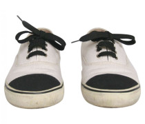 Sneakers Leintuch Weiß