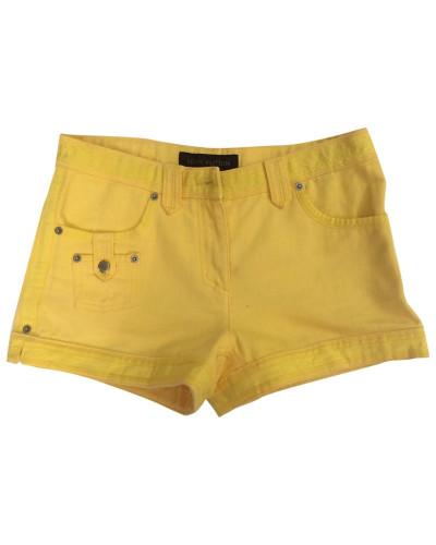 Second Hand Shorts Baumwolle Gelb