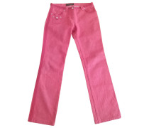 Second Hand Jeans Baumwolle Rot