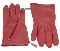 Handschuhe Leder Rot