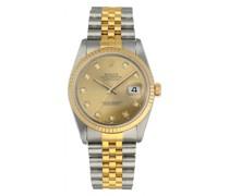 Second Hand RolexDatejust 36mm Gelbgold Uhren