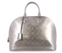 Second Hand Handtasche Leder Grau