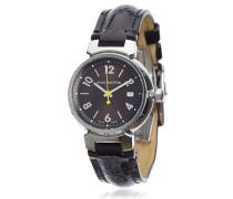 Second Hand Tambour Silber Uhren