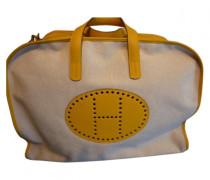 Second Hand Reisetasche Leder Gelb