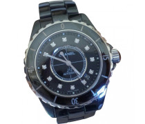 J12 Noire Automatique Diamants Keramik montre