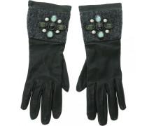 Leder lange handschuhe