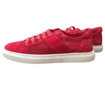 Sneakers Velourleder Rot