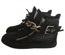 Sneakers Krokodil Schwarz