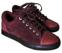 Sneakers Velourleder Bordeauxrot