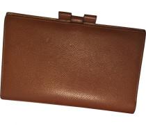 Second Hand wallet & case, Kleinlederware Leder Kamel