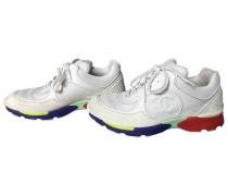 Sneakers Veloursleder Weiß
