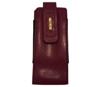 Second Hand wallet & case, Kleinlederware Leder Bordeauxrot