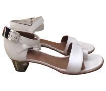 Second Hand Sandalen Leder Weiß