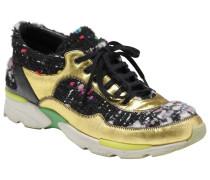 Sneakers Leintuch Schwarz