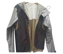 Second Hand Jacke.Blouson Polyester Grau