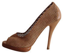 Pumps Leder Beige