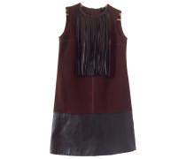 Second Hand Kleid Wolle Bordeauxrot