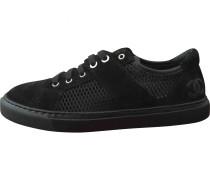 Sneakers Velourleder Schwarz