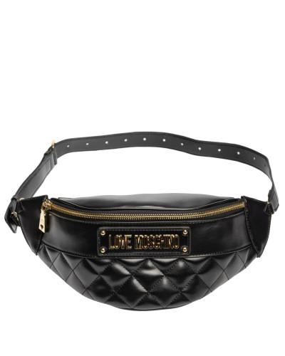 Handtasche aus Leder in Schwarz