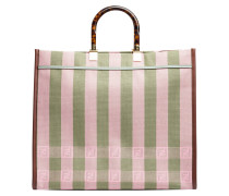 Handtasche aus Leder in Mehrfarbig