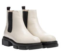 Stiefel aus Leder in Wollweiß/Weiß
