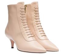 Stiefel aus Leder in Nude/Beige/Weiß/Rosa