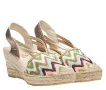 Sandalen aus Leder in Mehrfarbig
