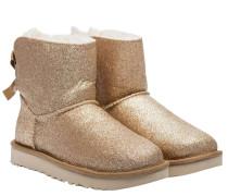 Stiefel aus Synthetik in Gold/Gelb