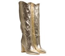 Stiefel aus Leder in Gold/Gelb