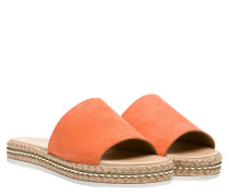 Sandalen aus Leder in Orange