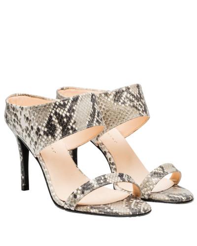 Sandalen aus Leder in Snake/Grau/Schwarz