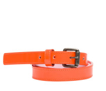 Gürtel aus Leder in Orange