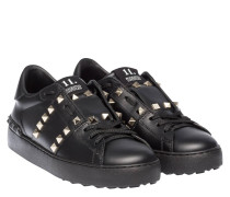 valentino damen sneakers open rockstud untitled 11 aus leder reduziert. Black Bedroom Furniture Sets. Home Design Ideas