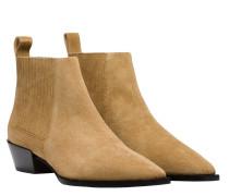 Stiefel aus Leder in Sand/Braun/Beige