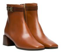 Stiefel aus Leder in Cognac/Braun/Orange