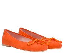 Ballerina aus Leder in Orange