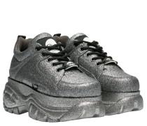 Schnürschuhe aus Gummi in Grau
