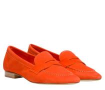 Loafer aus Leder in Orange