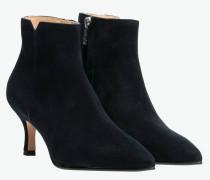 Stiefel aus Leder in Nachtblau/Blau