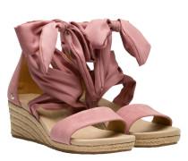 Sandalen aus Leder in Altrosa/Rosa