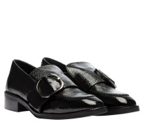 Mokassin aus Leder in Schwarz