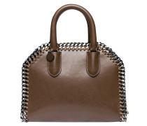 Handtasche aus Leder in Khaki/Grün