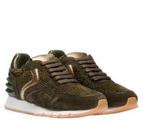 Sneaker aus Leder in Grün