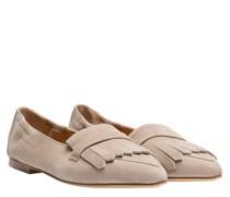 Loafer aus Leder in Hellgrau/Grau