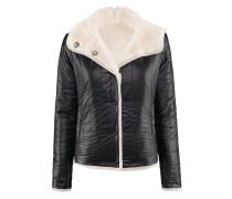 Free-Jacket | Schwarze Steppjacke mit hellem Futter in JET schwarz