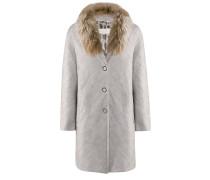 Main-Coat l Gehrock im Karo-Design in CRYSTAL grau