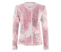 Posh-Jacket | Taillierte Jacke in Tweed-Optik in FLAMINGO